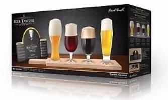 Ølsmagnings sæt. Forskellige glas