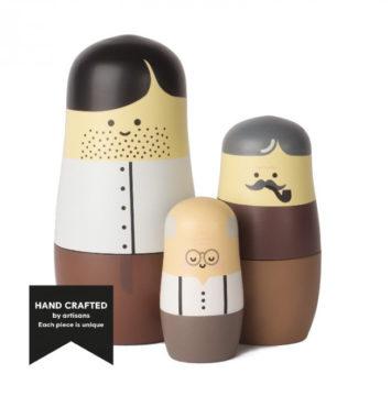 3 træmennesker figurer
