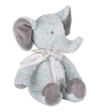 lysegrå elefant bamse til nyfødt