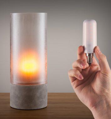 Flammende LED pære til romantisk aften
