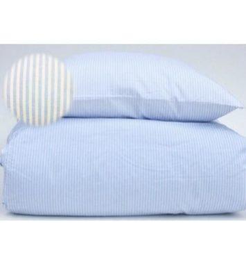 baby sengetøj blødt skagen blåt