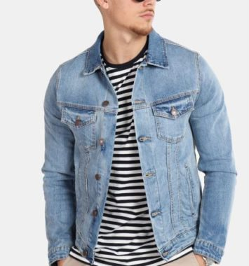 blå denim jakke jack & jones