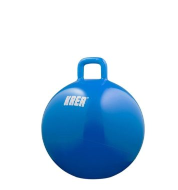 blå hoppebold fra krea