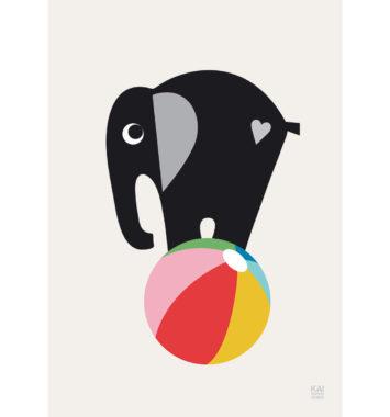 kai copenhagen plakat med elefant