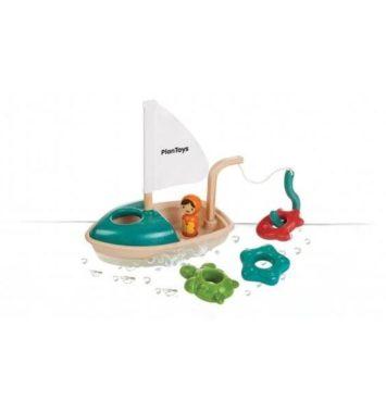 plantoys aktivitets fiske båd