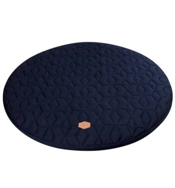 quilted filibabba lege tæppe mørke blå