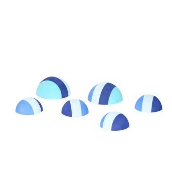 tumlesten i blå fra bobles