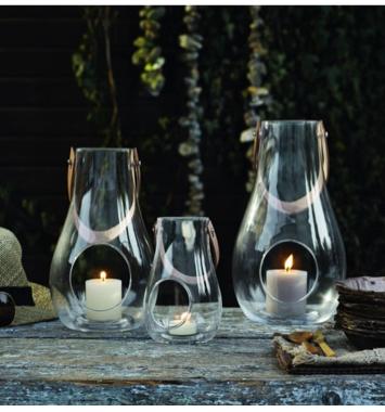 holmegaard glas lanterne