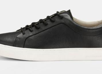 Jack&jones sko i sort læder