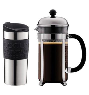 Kaffebrygger sæt og rejsekrus