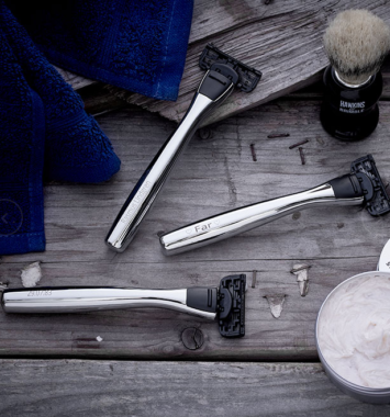 Koto barberskrabere med indgravering
