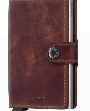 Kreditkort holder i brun læder