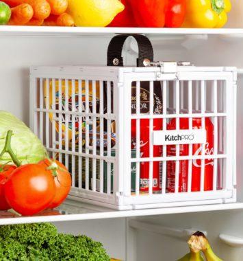 Aflåst køleskabsboks