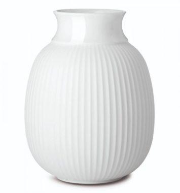 Lyngby Curve Vase i hvid