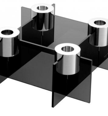 Lysestage til 4 lys i flot design