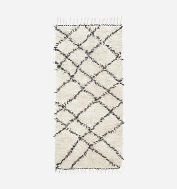 Hvidt ternet tæppe til mor