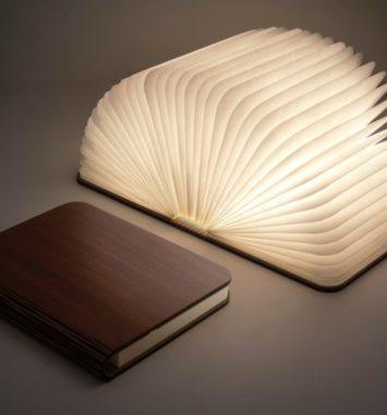 Lampe som bog - sjov ide
