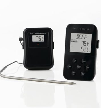 Stegetermometer trådløst i sort