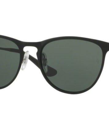 sorte rayban solbriller med mørkegrå glas i