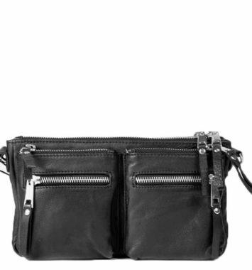 Lille laedertaske/pung som gave til hende
