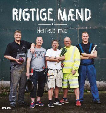 frontcover af bogen 'rigtige mænd' som er en opskriftsbog fra tv