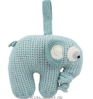 grå stof elefant uro som dåbsgave