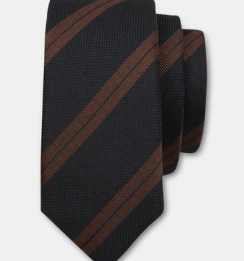 Connexion stripet slips i brun og blå