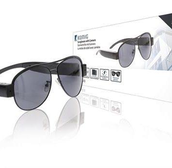 Solbriller med spion kamera i 1080 pixel HD