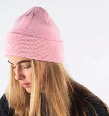 lyserød tophue til pige