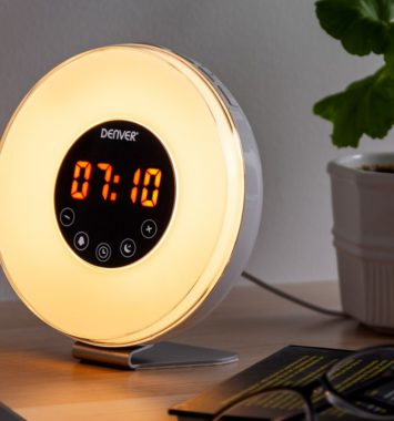 Wake up light alarm klokke fra Denver