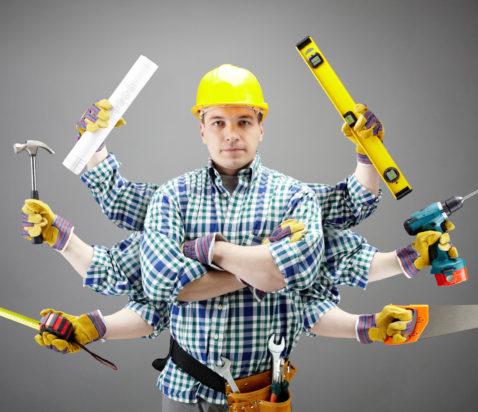 håndværker med mange arme
