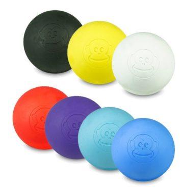 6 lacrosse massagebolde i forskellige farver