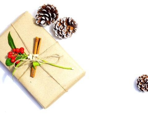 pæn gave med grankogler